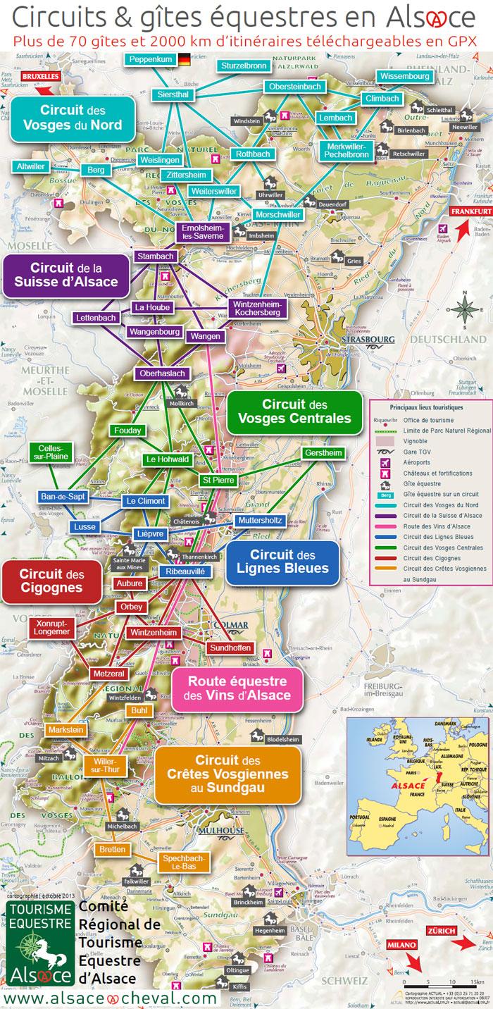 Carte Dalsace Touristique.Infos Diverses Cdte 67 68 Comite Departemental De